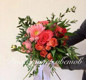 Букет невесты из гербер и роз