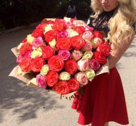 Микс из 51 розы