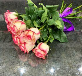 Букет 9 Роз на ленте
