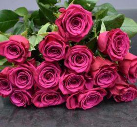 Букет 15 Роз на ленте