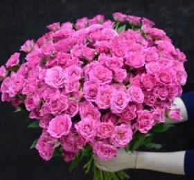 Букет из кустовых роз (25 штук)