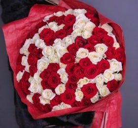 101 роза в оформлении