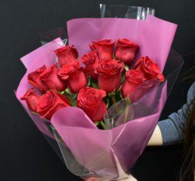 Букет 15 Роз в оформлении 60 см