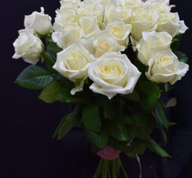 Букет 25 Роз ( белые )